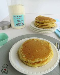 Quick and Simple, Delicious Homemade Pancake Dry Mix - My kids absolutely adore having this easy homemade pancake mix in the pantry for weekends and holid - Smoked Meat Recipes, Oven Recipes, Baking Recipes, Bread Recipes, Easy Recipes, Recipies, Frozen Sweet Potato Fries, Homemade Sweet Potato Fries, Pancake Mix Uses