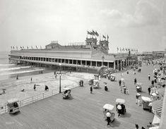 "The Jersey Shore circa 1910. ""Steeplechase Pier and Boardwalk, Atlantic City."" RP by DCH Paramus Honda Team Leader Mike Lee http://mike-lee.dchparamushonda.com"