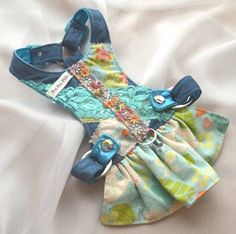 Small Dog Harness Dress - Country Girl Denim Deluxe Harness Dress on Etsy, $75.00