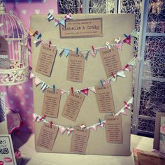 mini bunting table plan