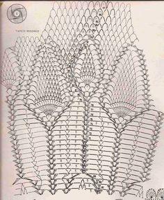Toca do tricot e crochet: Toalha de mesa em crochet, prontinha ... com gráfico !!!
