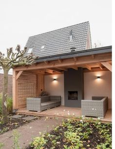 Love the idea of an outside fireplace - Pergola Ideas Carport Designs, Backyard Patio Designs, Pergola Patio, Pergola Kits, Pergola Ideas, Pergola Carport, Carport Ideas, Carport Garage, Modern Pergola