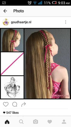 5 strand ribbon braids  Ribbon braids are always a favourite of mine     Peinados