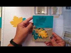 How to Create a Peek-a-Boo Card. Watch to see this fun interactive card using Fall embellishments. All products by Stampin' Up! www.stampinbythesea.com