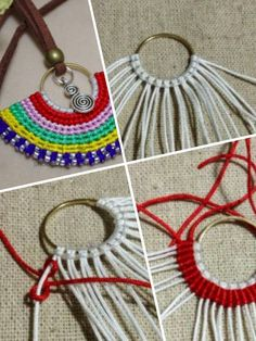 1000 images about diy macram on pinterest macrame - Como hacer artesanias en casa ...