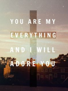 you are my everything and i will adore you.