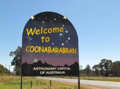 No one really knows the source of the name Coonabarabran. It may derive from a person's name or from the Kamilaroi (Aboriginal) language word 'gunbaraaybaa' meaning 'excrement', translated earlier as meaning, 'peculiar odour', this possibly is a bowdlerisation. Another meaning is derived from an Aboriginal word for 'inquisitive person'. 'Coolabarabran' was the name of a station owned by James Weston in 1848.[