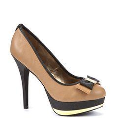 EST. 1969 Camel Colour Block Leather Platform Court Shoes