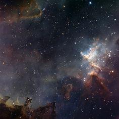 Звездное скопление Мелотт 15 (Melotte 15) в туманности Сердце (IC 1805) в созвездии Кассиопеи