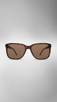 65763386173 Square Frame Check Detail Sunglasses
