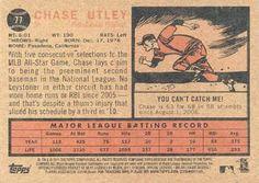 2011 Topps Heritage #77 Chase Utley Back