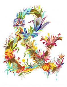 floral & #typography