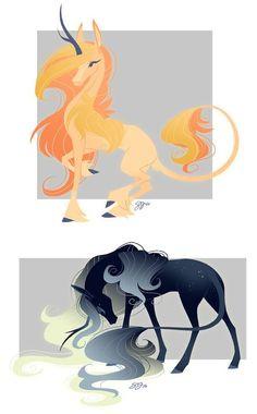 - Both Sold by probablyfakeblonde : Celestial Unicorn Adoptables! - Both Sold by probablyfakeblonde Creature Drawings, Horse Drawings, Animal Drawings, Cute Drawings, Drawing Sketches, Unicorn Drawing, Unicorn Art, Mythical Creatures Art, Mythological Creatures