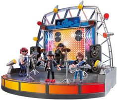 """Playmobil - Rock Stage - Playmobil - Toys""""R""""Us Concert Stage, Rock Concert, Toys R Us, New Toys, Geeks, Lps Sets, Playmobil Toys, Guitar Solo, Built In Speakers"""