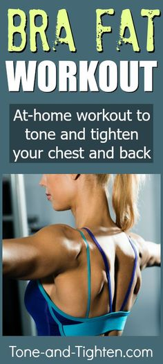 Great at-home workout to banish back fat forever! From Tone-and-Tighten.com