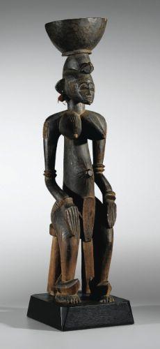 Statue, Sénufo, Côte d'Ivoire SENUFO FIGURE, IVORY COAST haut. 84 cm  Collecté par Emil Storrer, ca. 1950