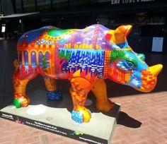 Great way of bringing awareness to preserve the rhino.