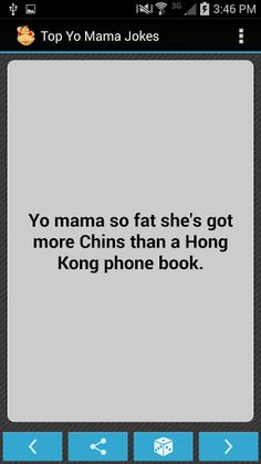 #1 Yo Mama Jokes app<br>Looking for the best yo mama jokes? Enjoy this easy to use collection of the top yo mama jokes around, and stay entertained with the frequent updates and improvements! Our jokes app contains the funniest new yo mama so fat jokes, yo mama so ugly jokes etc that you can find. Want to see your joke added? Rate us and add it in your comment!  http://Mobogenie.com