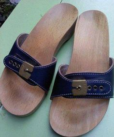 Scholl sandals. Hurt like heck when they slid off and the middle of your foot hit the end.