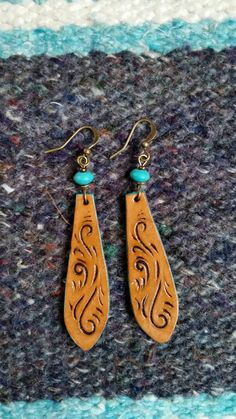 Hey, I found this really awesome Etsy listing at https://www.etsy.com/listing/506111087/hand-carved-leather-earrings-cowgirl