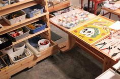 mosaic art studio plus tons of information on how to set up a craft studio!  AWESOME!