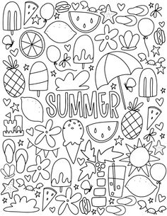 Here are the Interesting Summer Coloring Pages. This post about Interesting Summer Coloring Pages was posted under the Coloring Pages category at . Summer Coloring Pages, Printable Adult Coloring Pages, Cute Coloring Pages, Doodle Coloring, Free Coloring, Coloring Pages For Kids, Coloring Books, Coloring Pages To Print, Dinosaur Coloring Pages