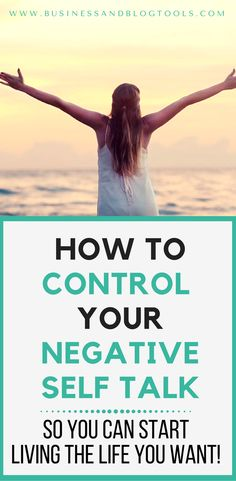 Some great ways to control negative self talk to help create more happiness and more positive self talk!