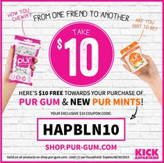 New Aspartame-Free Mints from PUR Mints |Happily Blended