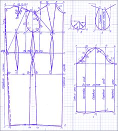Основная выкройка платья. Основа для построения выкроек сарафана, халата и т.п.