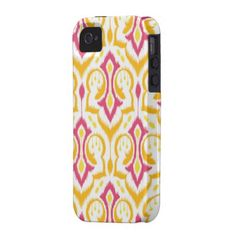 Ikat Pattern iPhone 4s cover