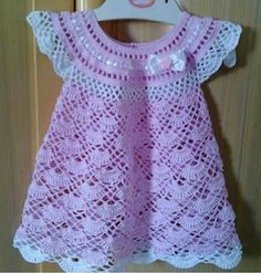 Instagram. PICTURE ONLY for inspiration. Crochet girl's dress.