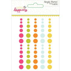 Simple Stories Sunshine & Happiness Enamel Dots