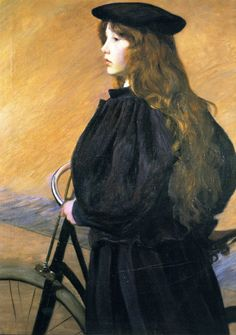 Young Bicyclist (Alice Perry) by Lilla Cabot Perry (+++)