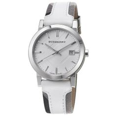 Burberry Men's BU9019 Large Check Leather Strip On Fabric Watch Burberry. $399.95. Water resistant to 50 meters (165 feet). Stainless steel case. Mineral crystal. Quartz movement. Silver dial