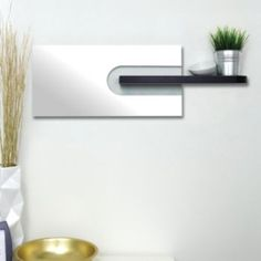 nexxt Mera Mirror & Wall Shelf