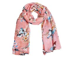 Butterfly and Flowers Spring Scarf