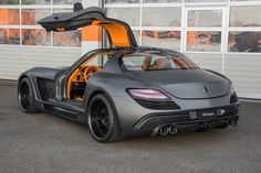 2013 Mercedes-Benz SLS AMG Gullstream by FAB Design The Swiss tuner FAB Design has taken on the Mercedes SLS AMG and made it a little more individual and even more dynamically accentuated. matte black grey orange interior