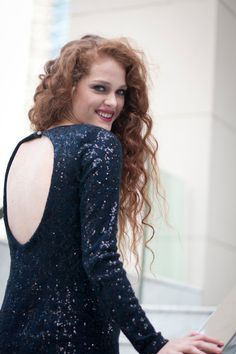 Elizabetta!!! Vestido de lana con paillette!
