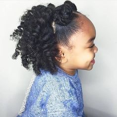 Such bouncy curls on this one. And loving her mini top knots.