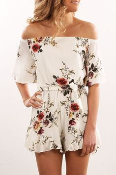 Dawning On Me Playsuit White