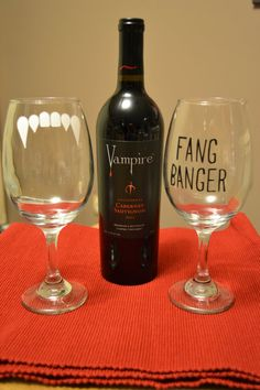 True Blood Wine Glass Set by YourSweetEscape on Etsy, $25.00