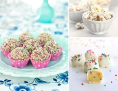 Sprinkle party sweets and popcorn