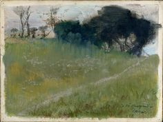 Edgar Degas - Landscape with Path Leading to a Copse of Trees, ca. 1890-92