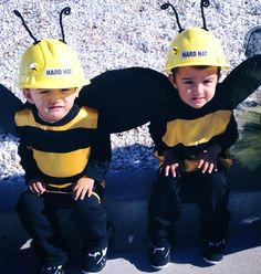 Bumble bee twins outfits shared by www.twinsgiftcompany.co.uk Twin Costumes, Bee Costumes, Twin Outfits, Twin Brothers, Animal Party, Twins, Celebrities, Bees, Parties