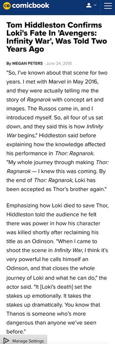 Nope. Sorry. Refuse to believe Loki is dead. You can't do that to Loki/Thor. Not cool. Not okay.
