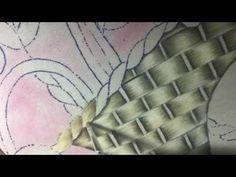 Pintura En Tela Canasto De Flores # 2 Con Cony