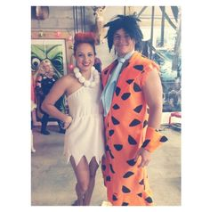 Pin for Later: 16 Ways to Wear a White Dress For Halloween Wilma Flintstone