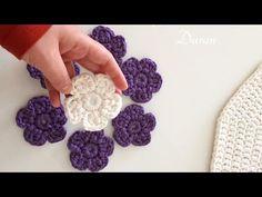 Penye ipten çiçek yapımı - YouTube