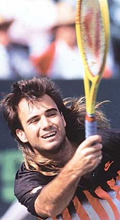 3fcc34d0ad 47 Best Andre Agassi images | Long Hair, Longer hair, Tennis