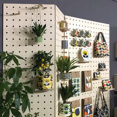 Feb 2020 - Our birch plywood custom pegboards for the design trade show stand of Wild&Wolf featuring Orla Kiely products. Top Drawer London January Flexible pegboards to display merchandise work great for trade shows.You are in the right place about furni Market Displays, Craft Show Displays, Merchandising Displays, Display Ideas, Stall Display, Museum Displays, Orla Kiely, Pegboard Display, Do It Yourself Organization